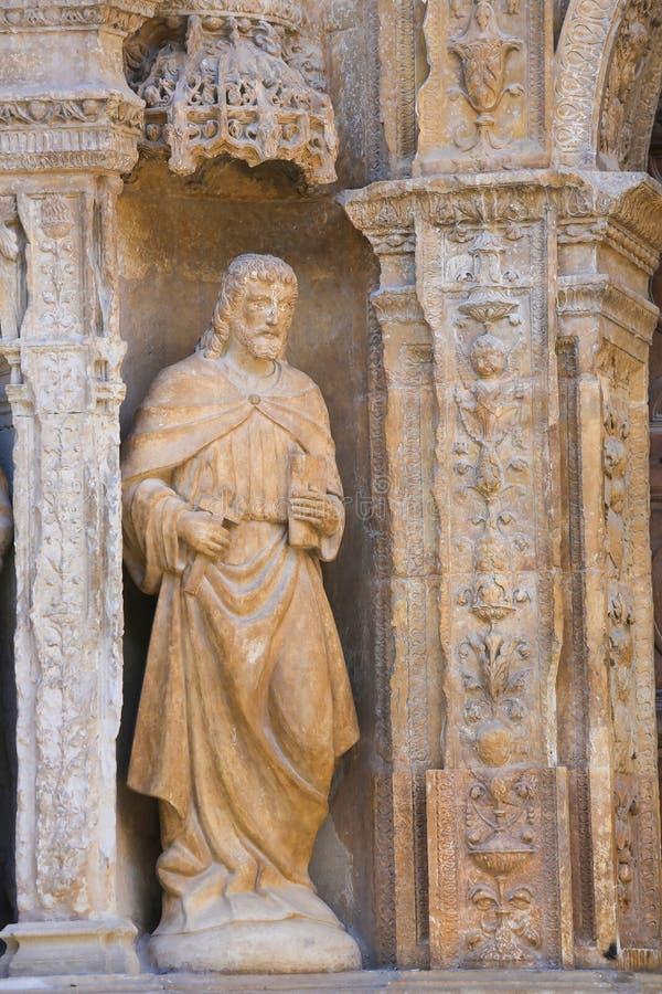 Portadahoofd in de Heilige Thomas Church van Haro, La Rioja royalty-vrije stock fotografie