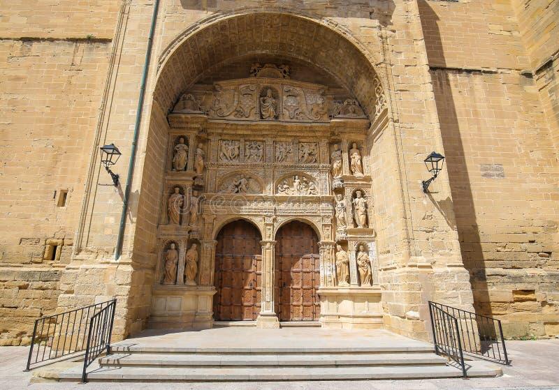 Portadahoofd in de Heilige Thomas Church van Haro, La Rioja royalty-vrije stock afbeelding