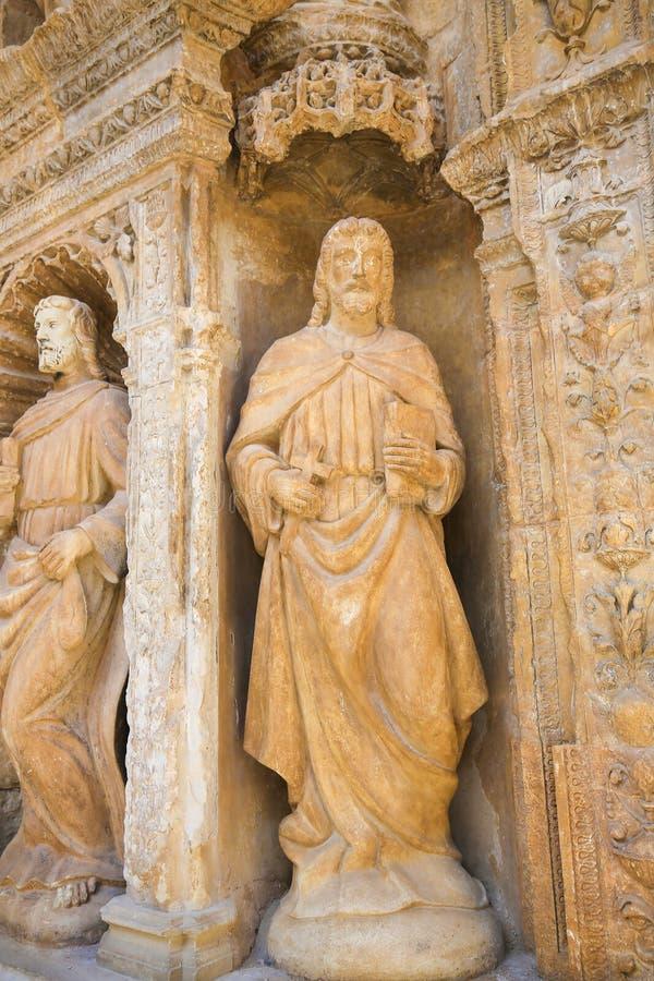 Portadahoofd in de Heilige Thomas Church van Haro, La Rioja stock foto's