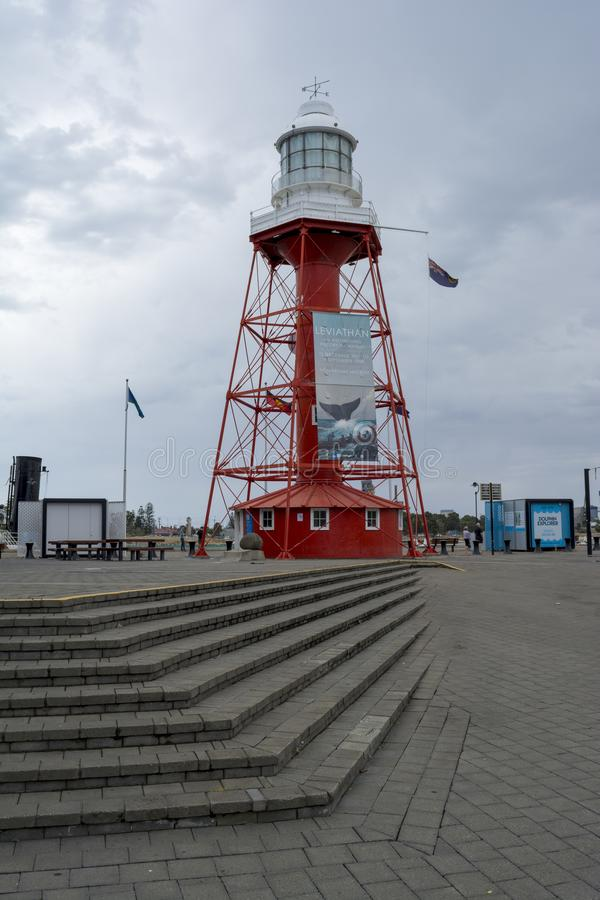 Portadelaide-Leuchtturm, Südaustralien lizenzfreies stockbild