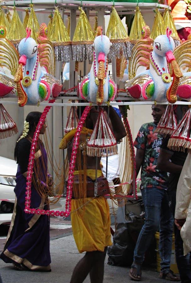 Portador de Kavadi imágenes de archivo libres de regalías