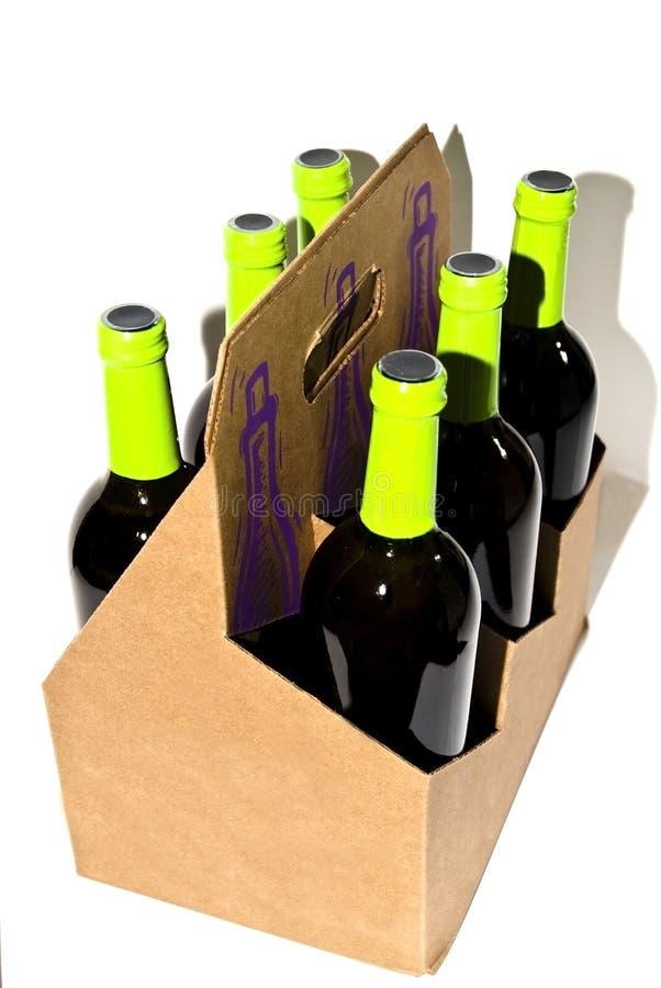 Portador do frasco de vinho imagens de stock royalty free