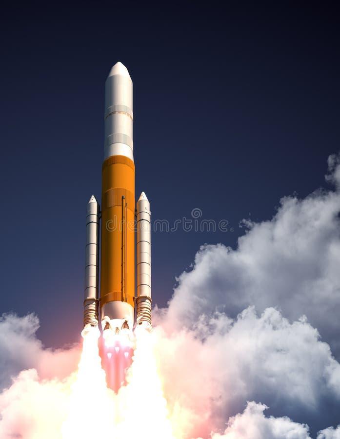Portador pesado Rocket Take Off ilustração stock