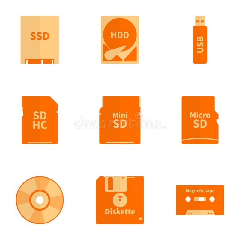 Portadores de información electrónica foto de archivo libre de regalías