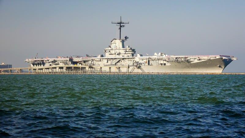 Portaerei della seconda guerra mondiale di USS Lexington fotografie stock