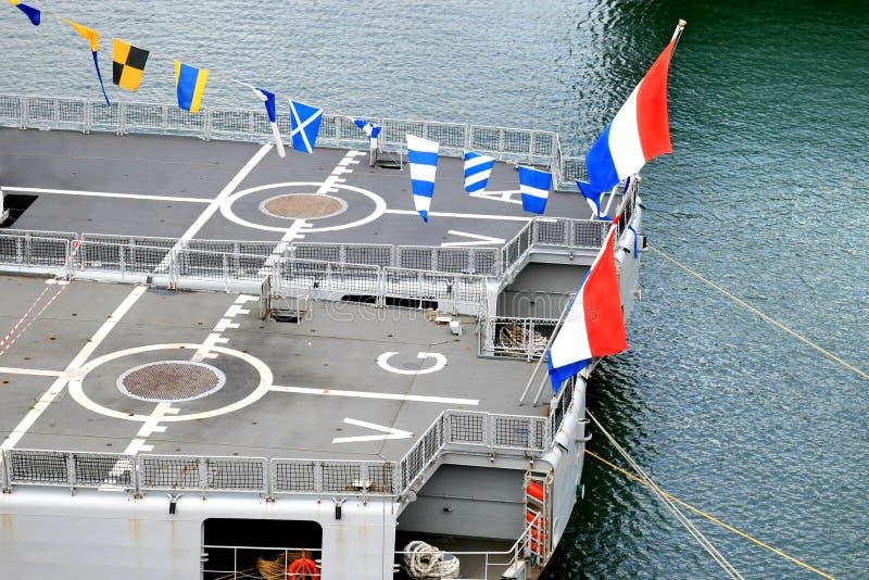 Portaerei olandesi del blu marino immagine stock libera da diritti