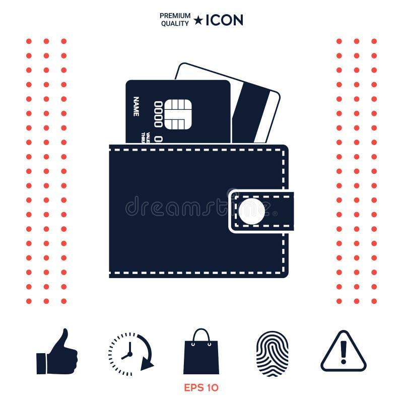 Download Portafoglio Con Le Carte Di Credito Dentro L'icona Illustrazione Vettoriale - Illustrazione di consumatore, tasca: 117977550