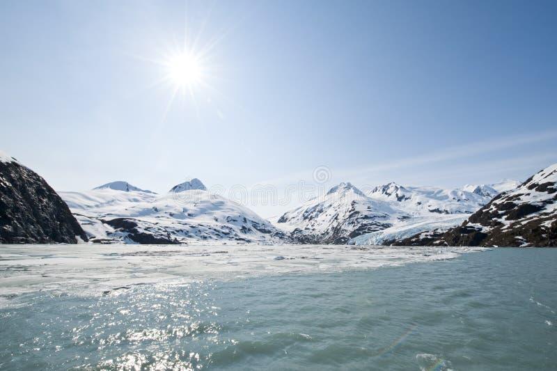 Portage Gletscher lizenzfreie stockfotografie