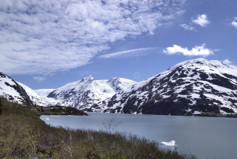 Portage Gletscher in Alaska lizenzfreie stockfotografie