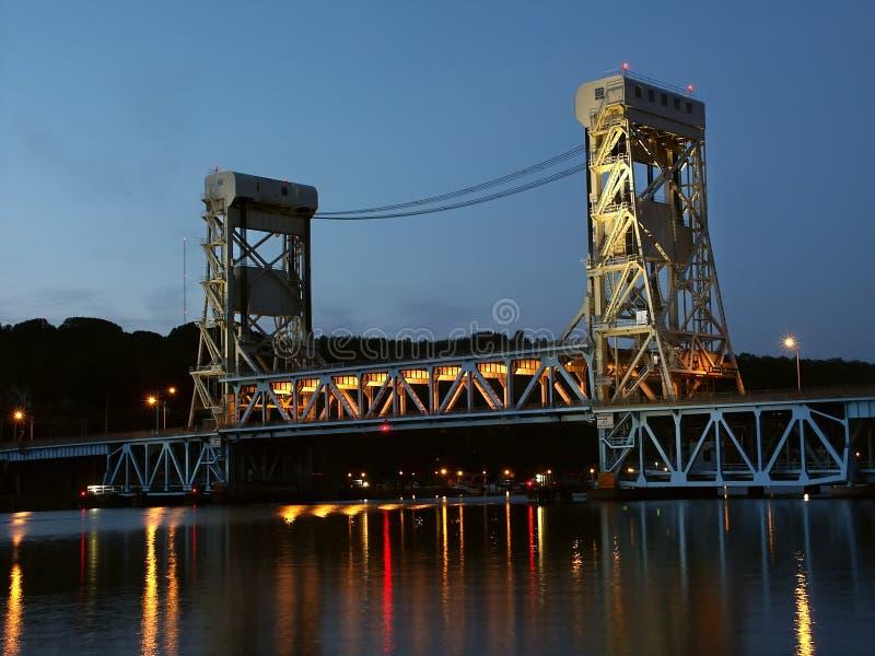 Portage Lake Lift Bridge royalty free stock images