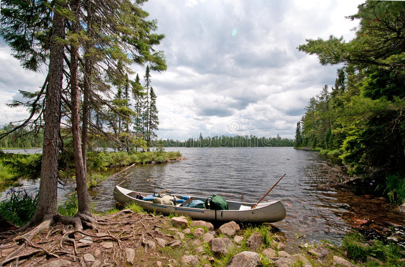 Download Portage into the wilds stock image. Image of calm, lake - 21676895