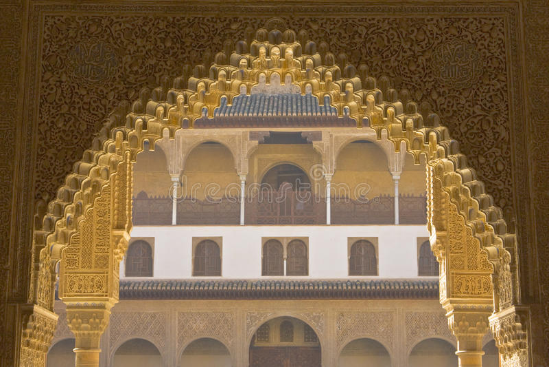 Portail d'Alhambra photos libres de droits