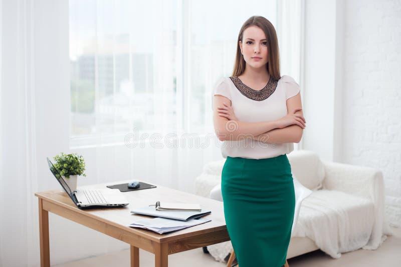 Portait της όμορφης επιτυχούς επιχειρησιακής γυναίκας στοκ εικόνες με δικαίωμα ελεύθερης χρήσης