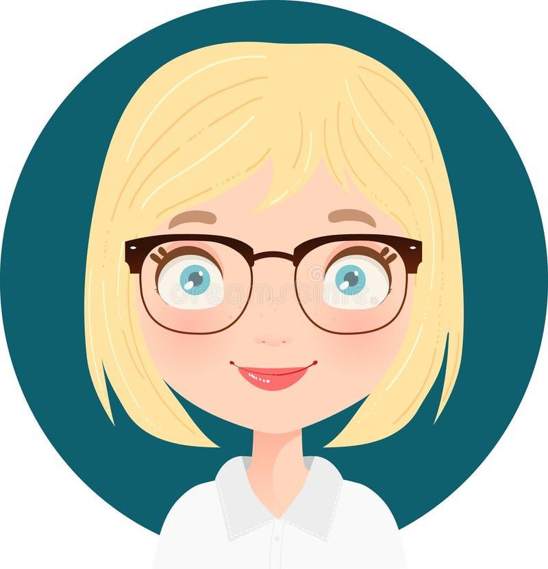 Portait of a Blonde cute receptionist stock photos