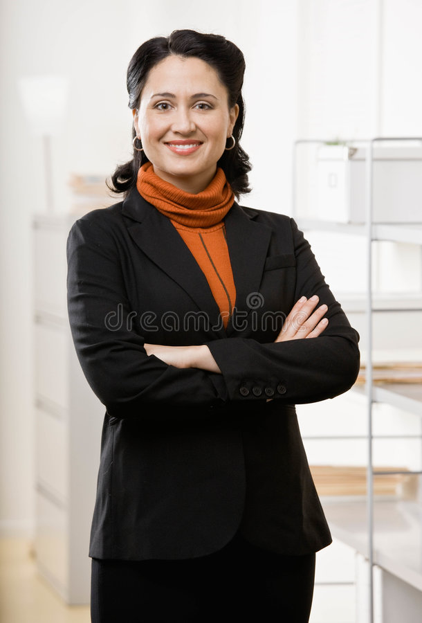 Download Portait Of Business Woman In Office Stock Photo - Image: 6605036