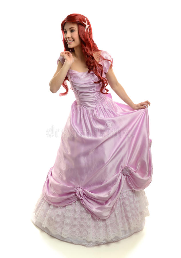 Portait di bella giovane donna nel custume di principessa immagini stock libere da diritti