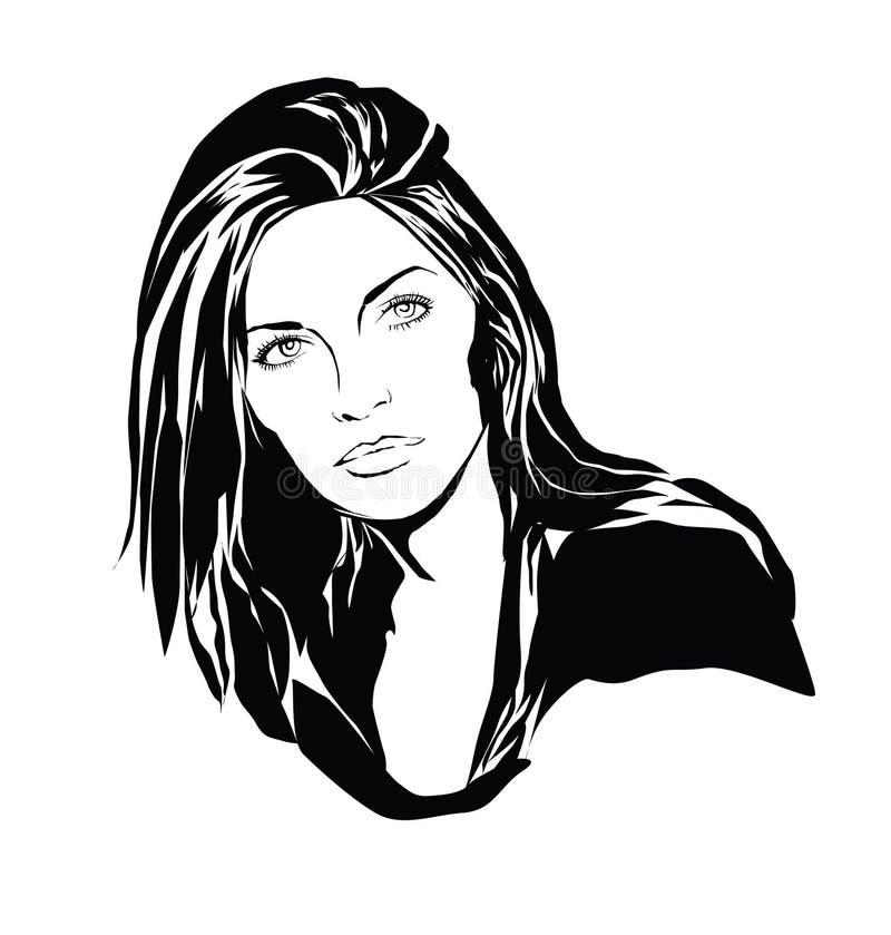 Portait of girl. Stylized portrait of beautiful girl