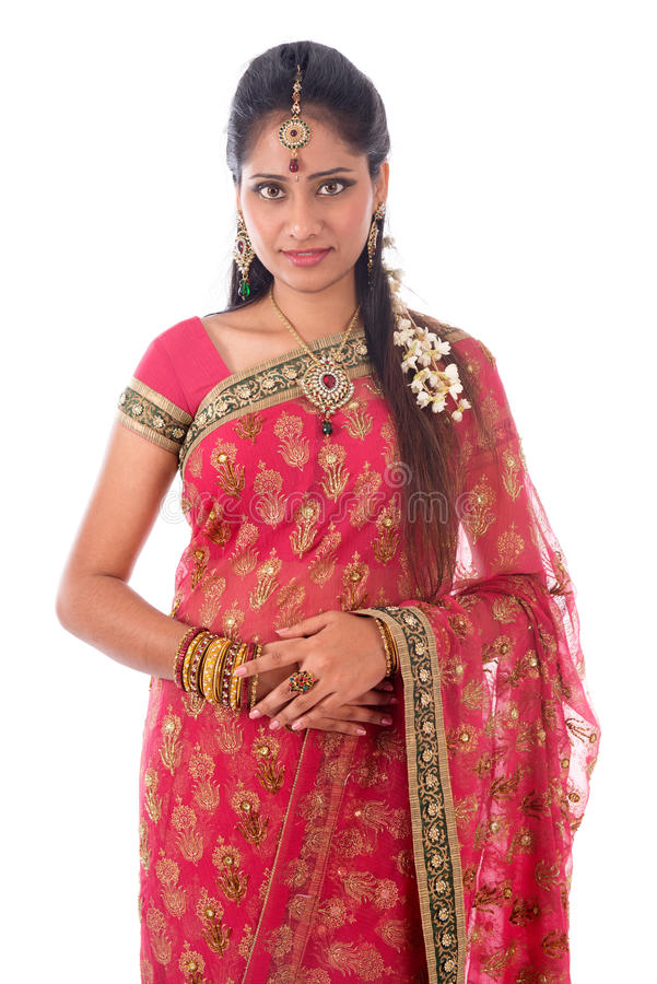 Portait indiano da mulher fotos de stock royalty free