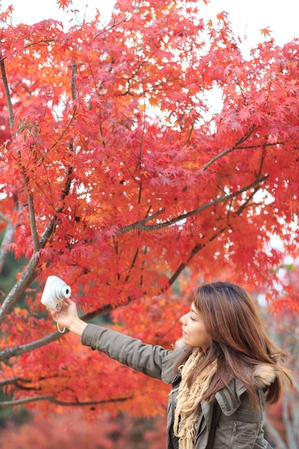 Portait kobieta na Nami wyspie w Korea fotografia stock