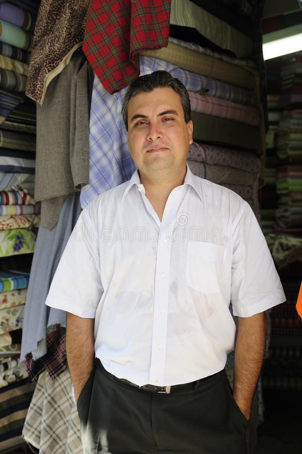 Portait of a retail store owner stock photography