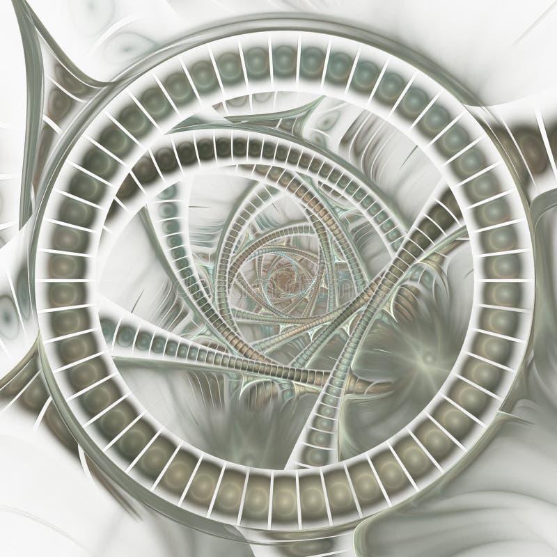 Portal aberto Imagem gerada por computador ilustração do vetor