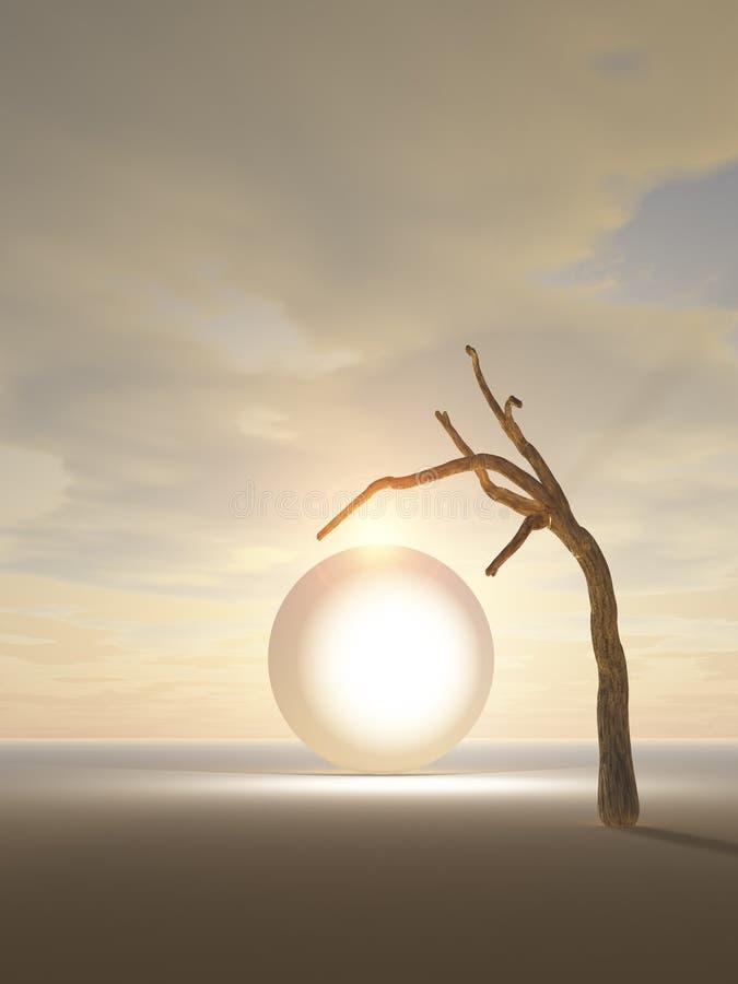 Portal al otro mundo ilustración del vector