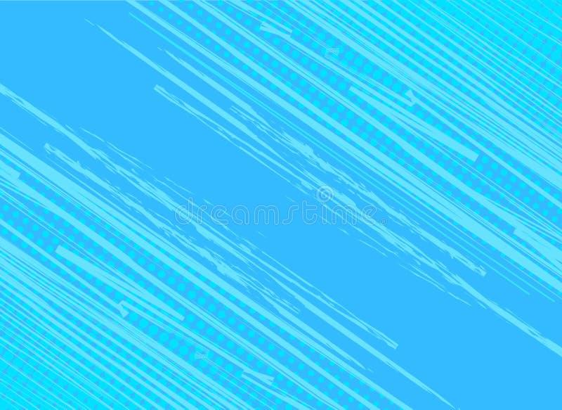 Portal azul do fundo com efeito de intervalo mínimo Retr do pop art do vintage ilustração royalty free