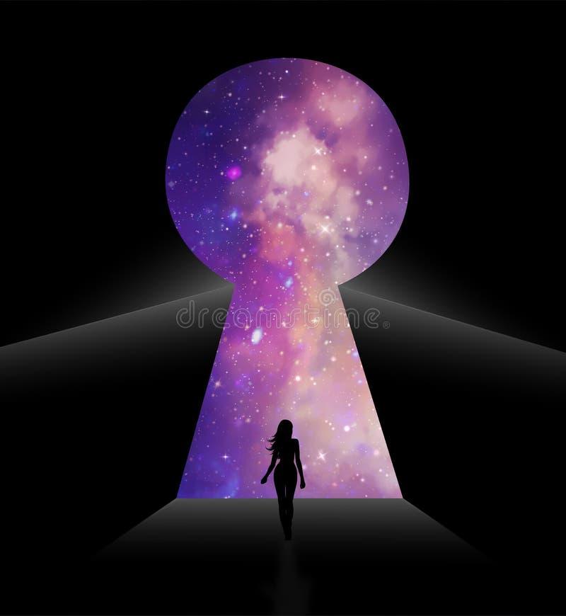 Portal, brama inny świat royalty ilustracja