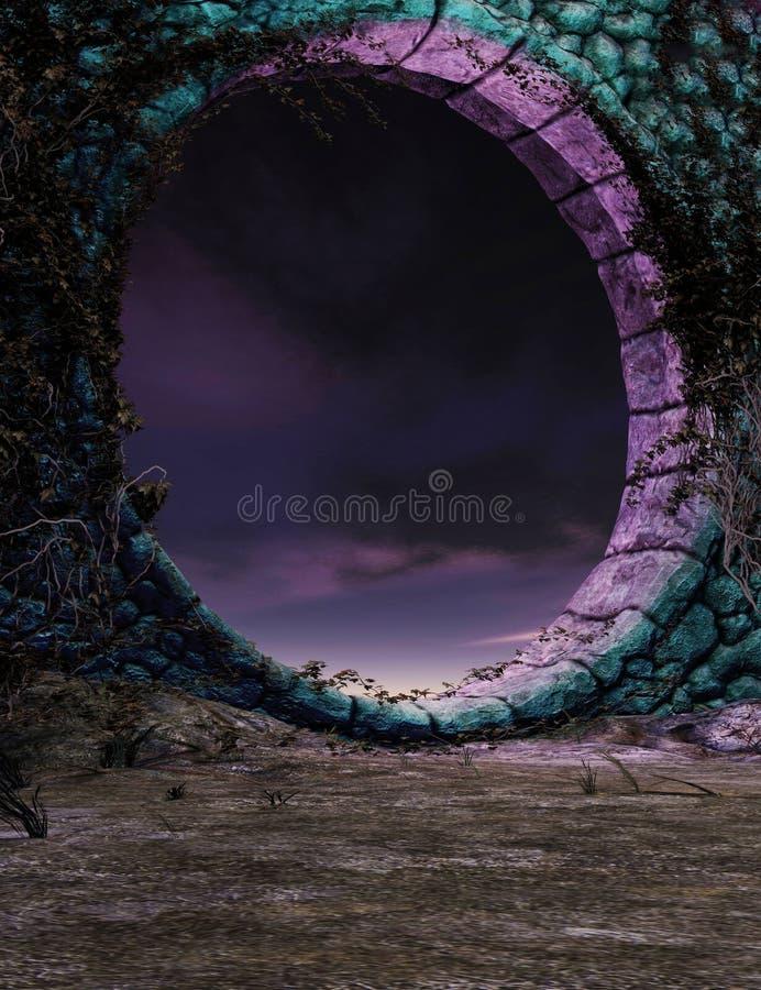 Portal da fantasia ilustração do vetor