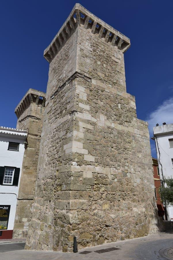 Portal de Sant Roc, Mahon, Menorca, España fotos de archivo