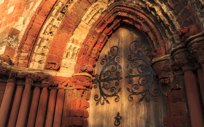 Portal de St Magnus Cathedral foto de stock royalty free
