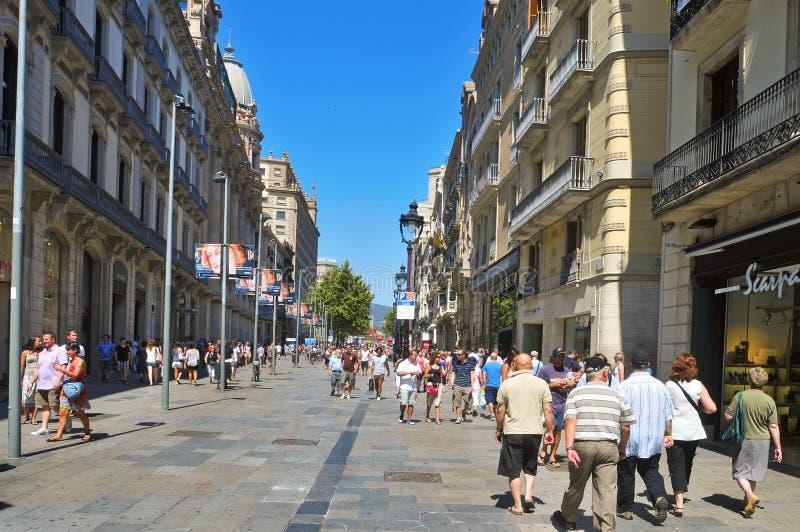 Portal del Angel, in Barcelona, Spanje royalty-vrije stock foto's