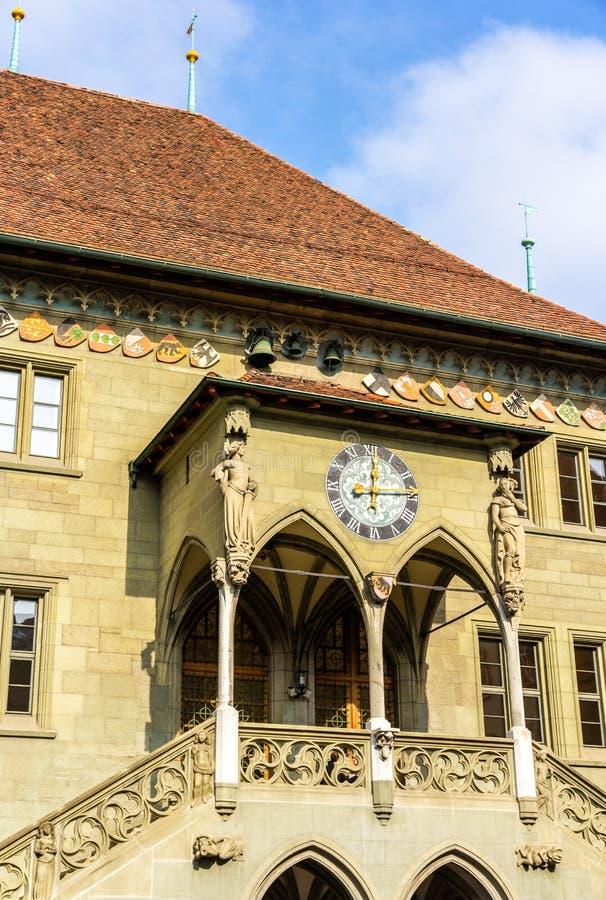 Portal des Basel-Rathauses stockbilder