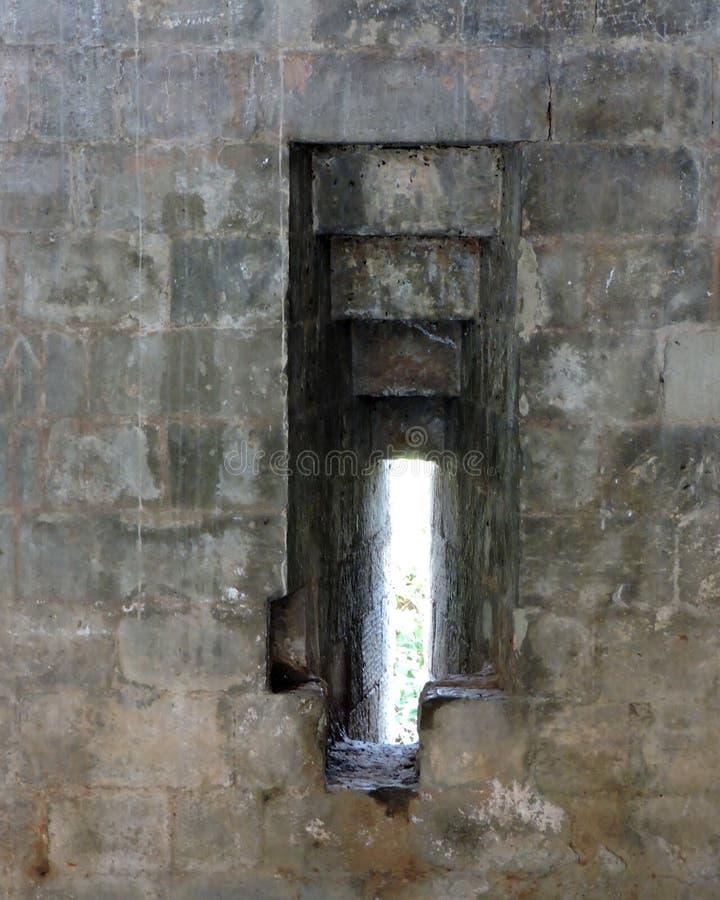 Portal do defensivo do forte de Kangra da arquitetura da Índia imagem de stock