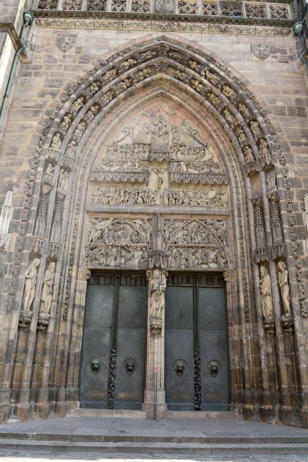 Free Portal Entrance Door Of Lorenzkirche In Nuremberg Stock Photography - 77750802