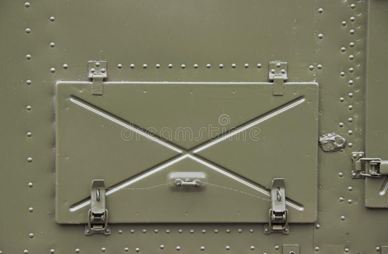 Portal fechado do ferro a bordo fotos de stock royalty free
