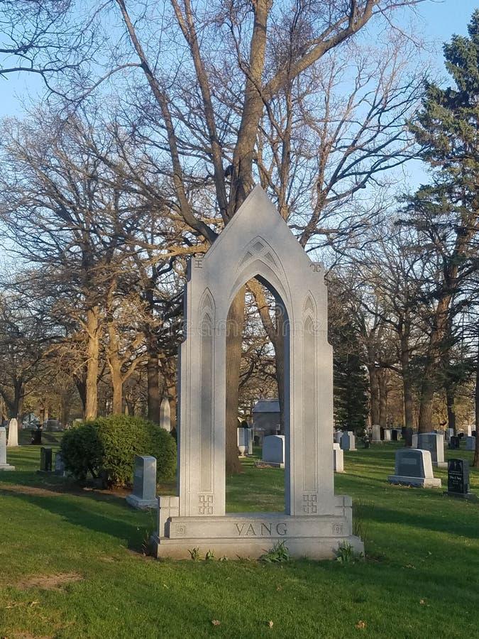 Portal grave stone royalty free stock image