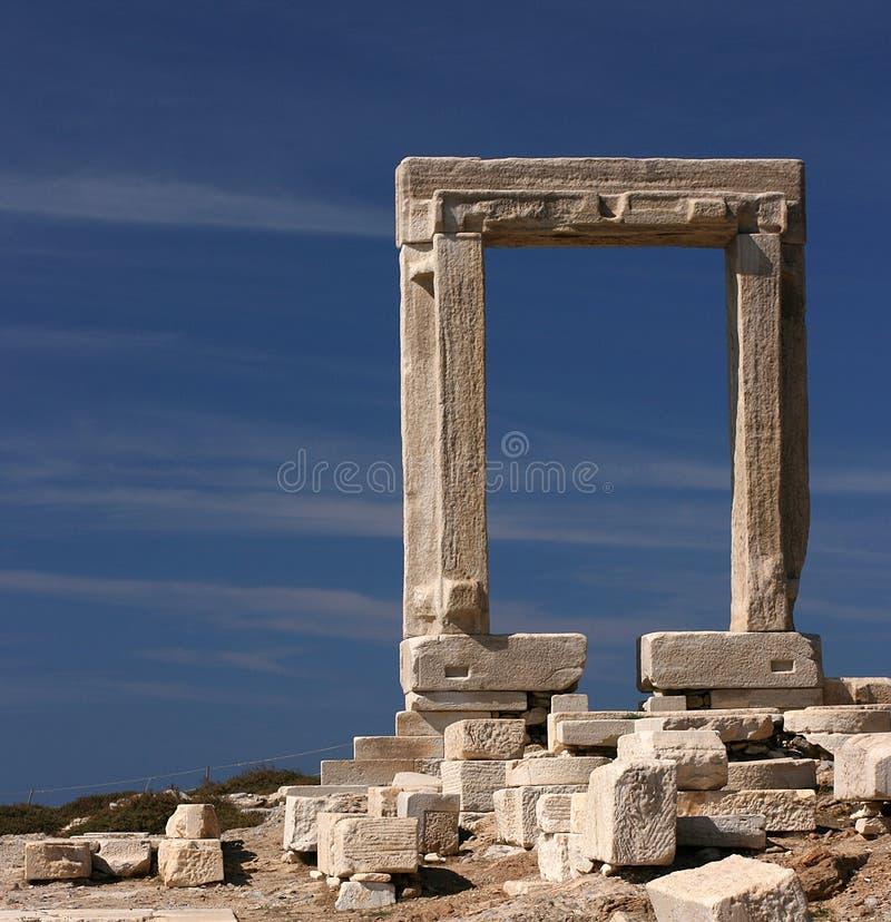 Portal grego imagens de stock