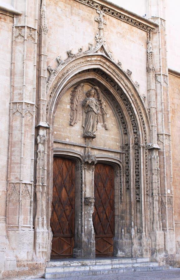 Portal of La Lonja monument stock photo