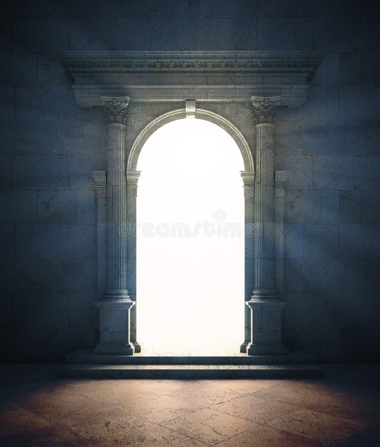 Portal misterioso ilustração do vetor