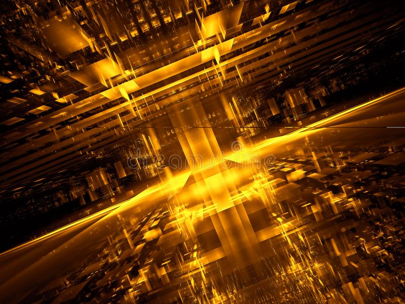 Portal o estación espacial futurista abstracto - digital generó imagen stock de ilustración