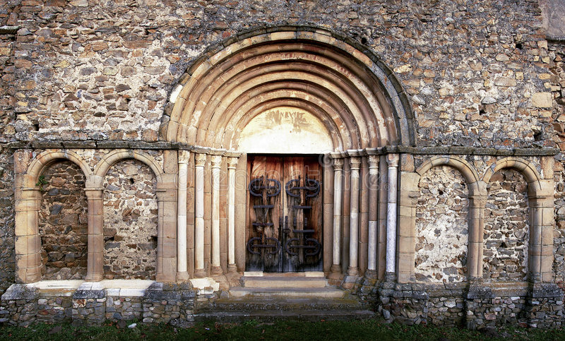 Portal romano imagens de stock
