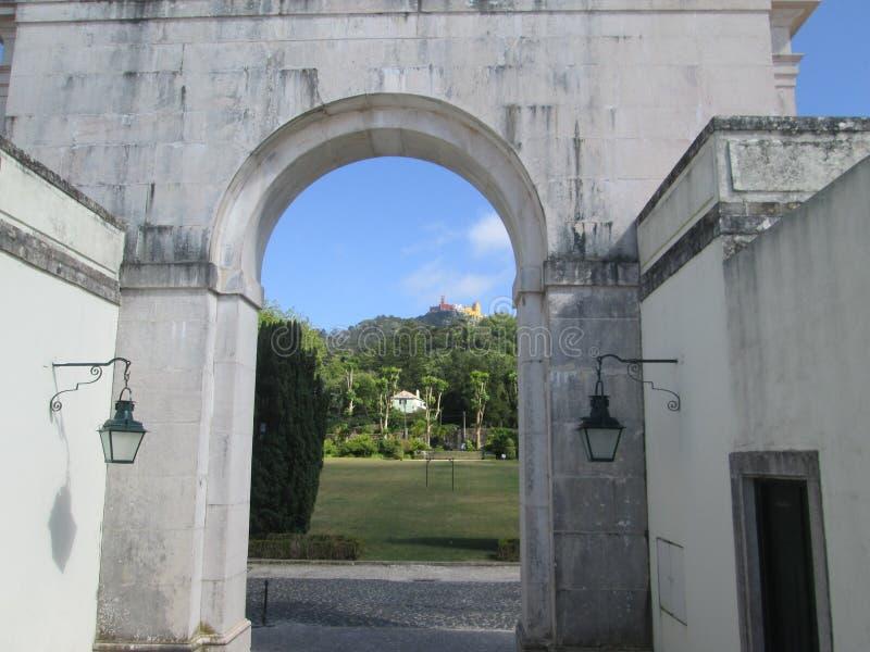 Portal in Sintr stockbild