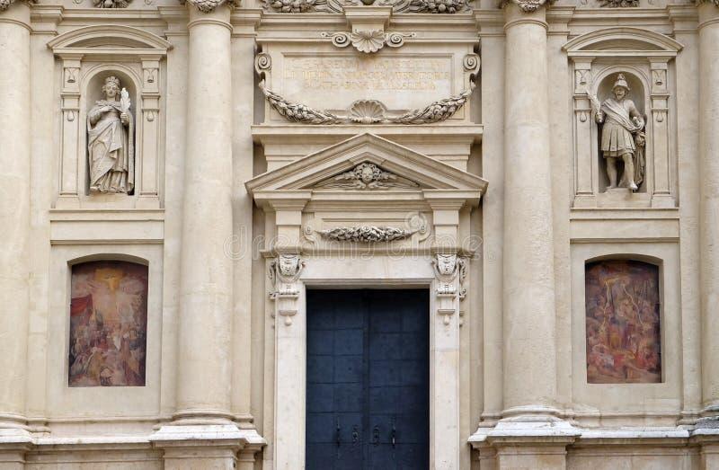 Portal St Catherine kościół i mauzoleum Ferdinand II, Graz obraz stock