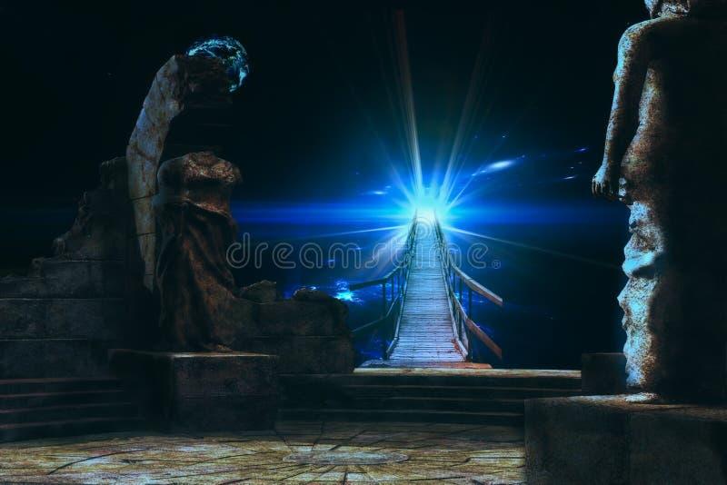 Portal till en annan värld royaltyfria bilder