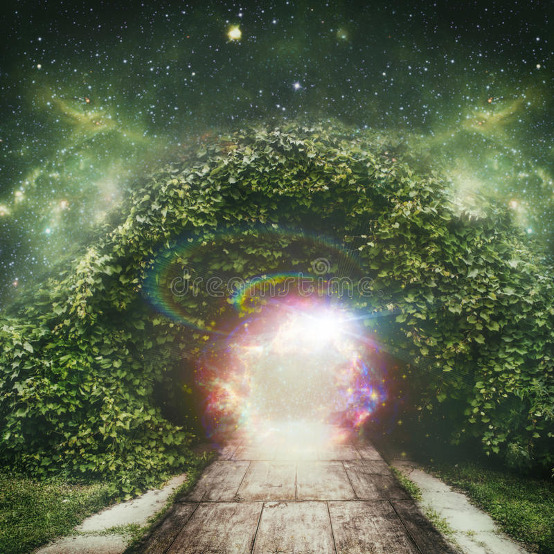 Portal to another universe royalty free illustration