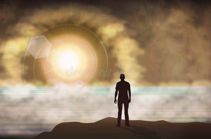 Portal, Tor zu anderer Welt stock abbildung