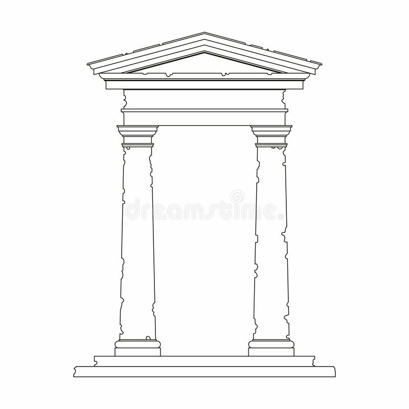 Download Portal With Use Of The Tuscan Order Stock Vector