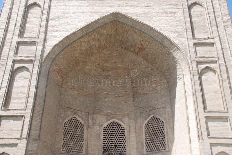 Portal von madrasa Abulkasim stockbilder