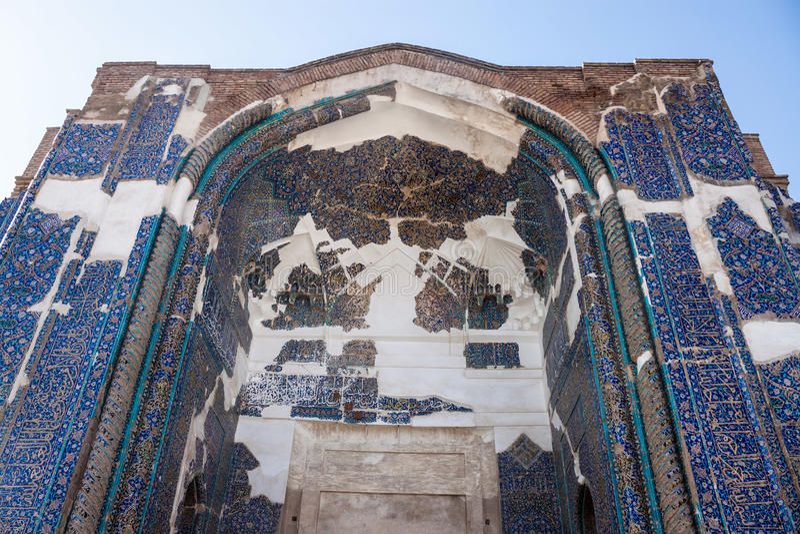 Portale della moschea blu fotografia stock libera da diritti